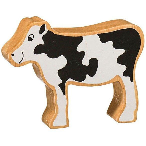 Natural Wooden Black & White Calf