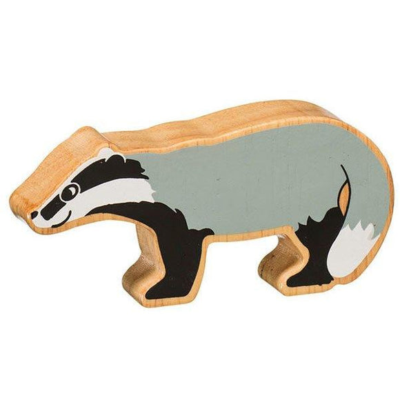 Natural Wooden Badger
