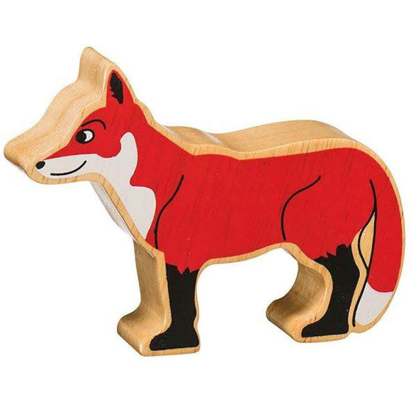 Natural Wooden Red Fox