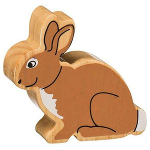 Natural Wooden Brown Rabbit