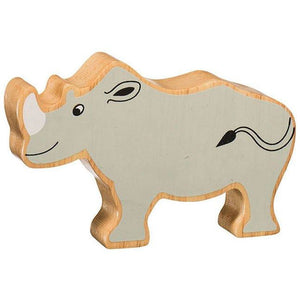 Natural Wooden Grey Rhino