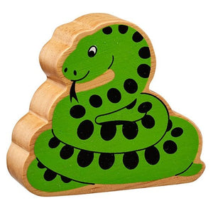 Natural Wooden Green Snake