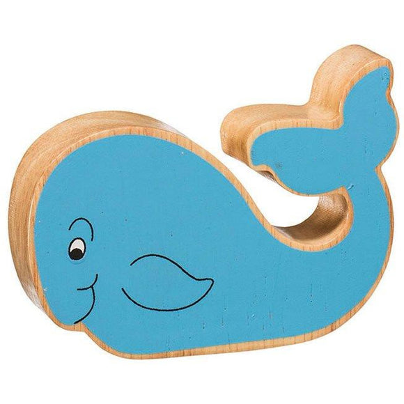 Natural Wooden Blue Whale