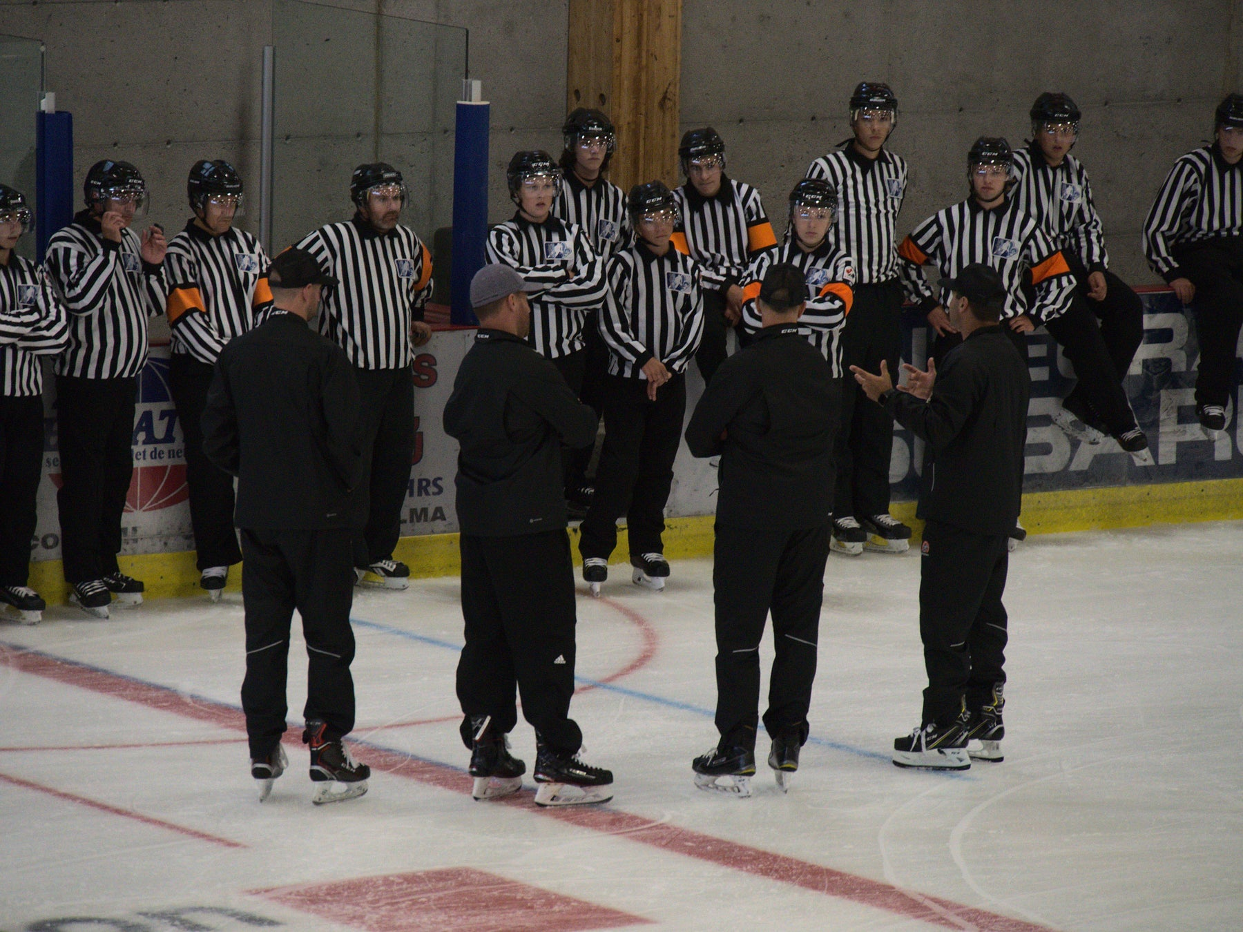 Justin-st-pierre-teaching-to-beginner-referees
