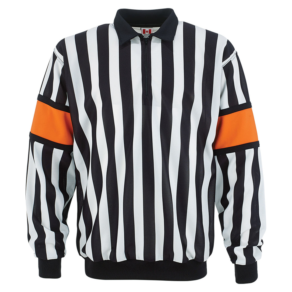 CCM PRO 150 REFEREE JERSEY w/ ORANGE ARMBANDS