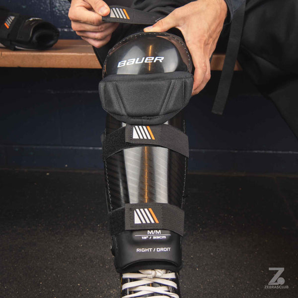 Bauer hockey referee shin guards front
