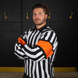 CCM-PRO-150-referee-jersey-orange-armbands-front