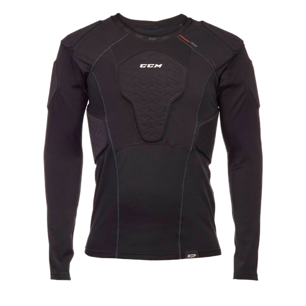 CCM psref referee long-sleeve padded shirts black