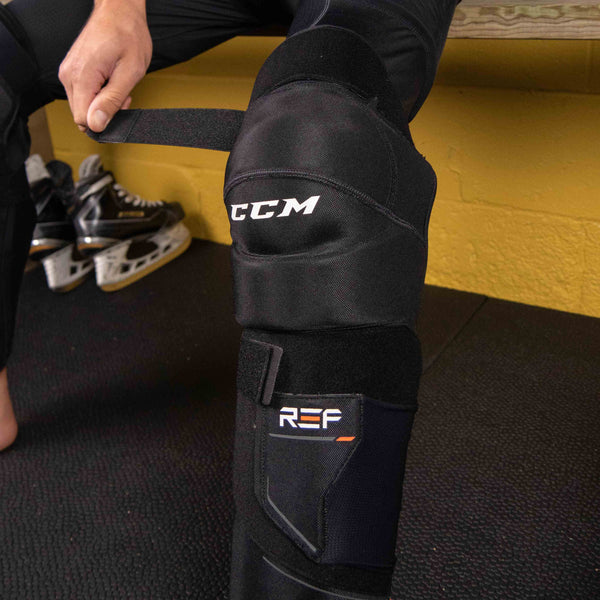 CCM SGREF referee shin guards from side
