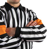 Hockey Referee Shirts Force Pro Orange Armbands Close
