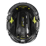 black warrior alpha one pro hockey referee helmet inside