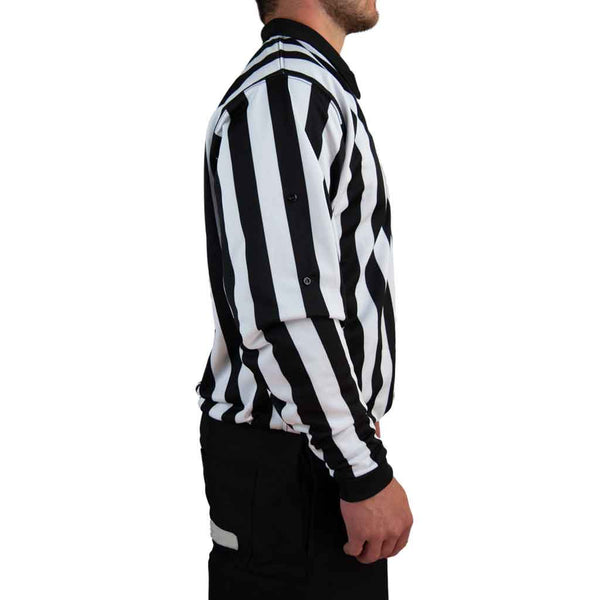 Zebrasclub ZL hockey referee jersey with snaps right side view