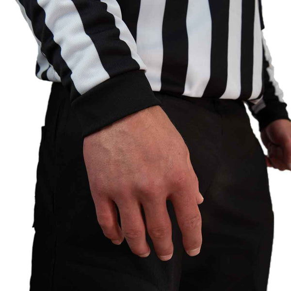Zebrasclub ZL hockey referee jersey with snaps wrist band