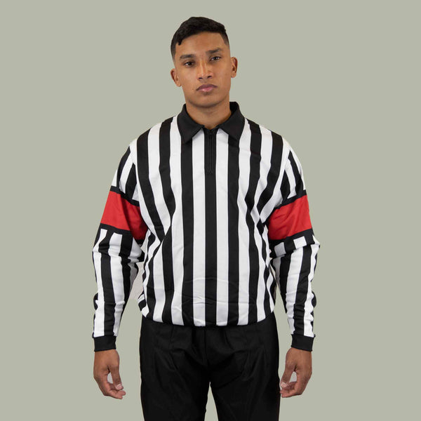 Zebrasclub zr1 hockey referee jersey with red armbands
