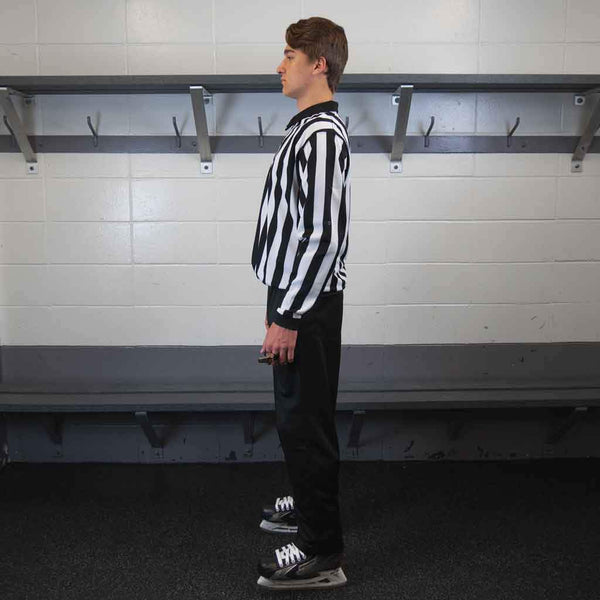 Zebrasclub beginner hockey referee kit left view