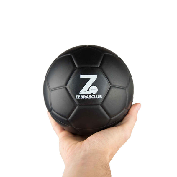 Zebrasclub 15cm Black Foam Ball Front With Hand