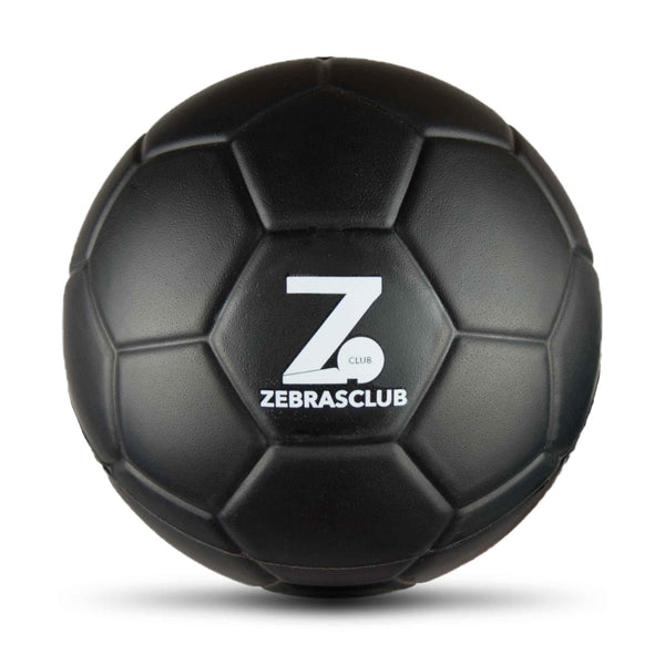 Zebrasclub 15cm Black Foam Ball Front Close