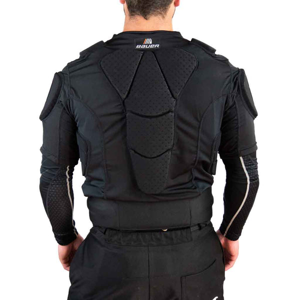 Bauer hockey referee padded shirt back view