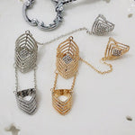 New Arrival Bohemian Style Vintage Crystal Exquisite Gold Silver Rings for Women