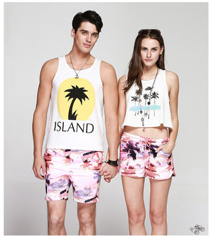 Beach Be Calling MEN'S His/Her Matching Boardshorts