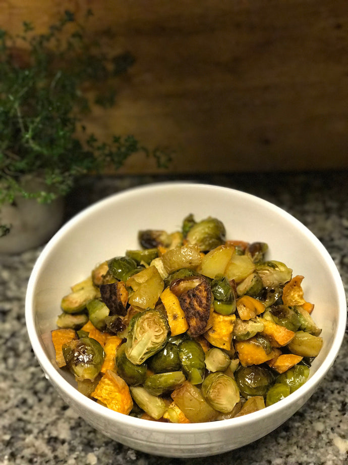 Garlic with Rosemary Oil with Oven Roasted Veggies