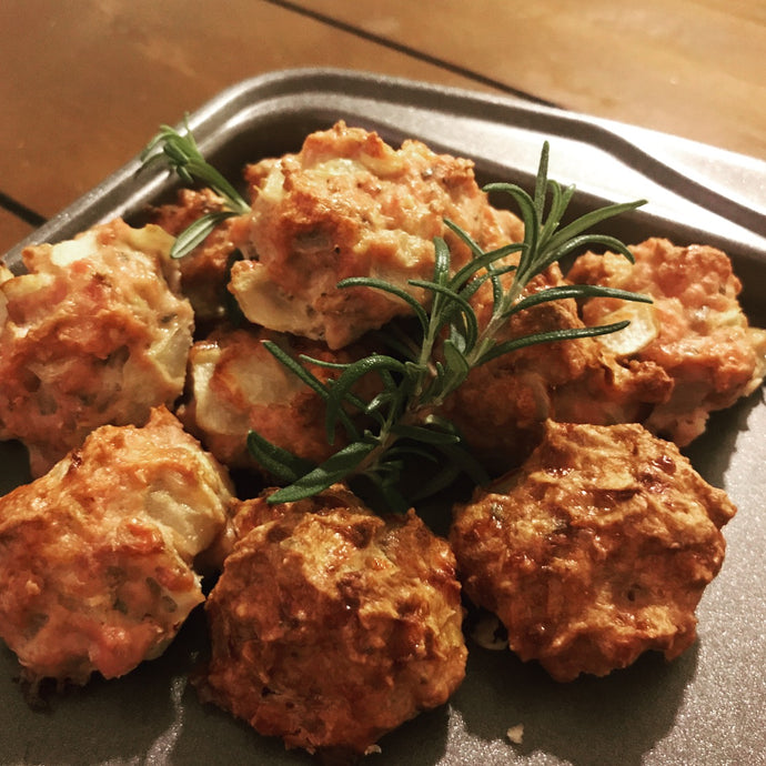Smoked Onion Meatballs