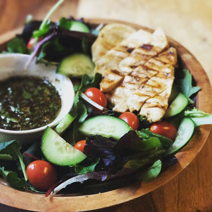 Grilled Chicken Salad with Chipotle Dressing