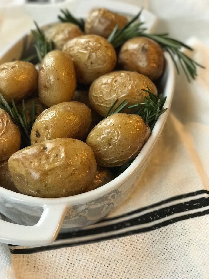 Garlic and Rosemary Oil Baby Potatoes