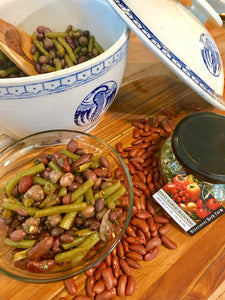 Four Bean Salad with Zesty Garlic Dressing