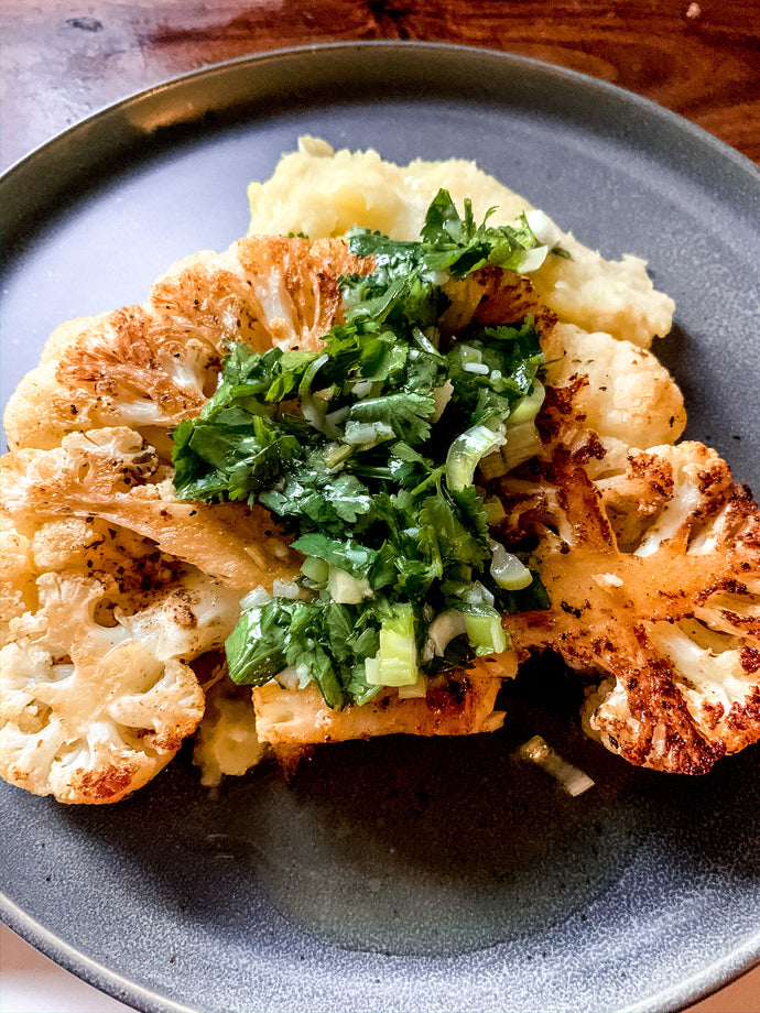 Black Pepper Cauliflower Steaks