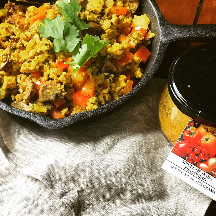 Spices of India Tofu Scramble