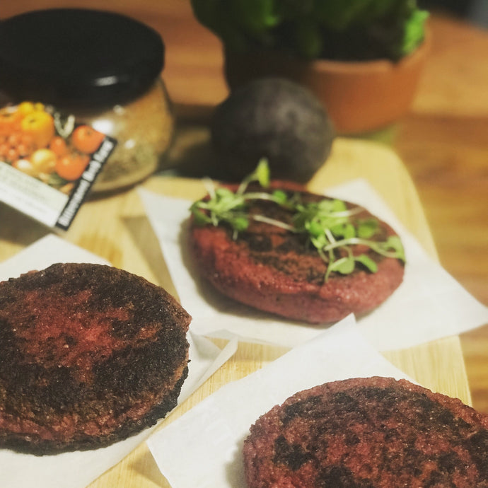 New England Barbecue Beet Burgers