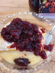 Brie Cheese with Cranberry with Mulled Cider Jam