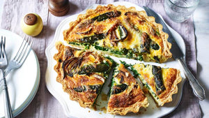 Spinach and Tomato Vegan Quiche
