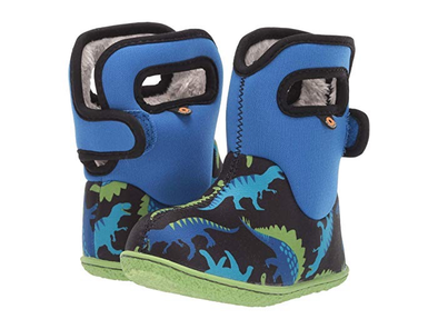Bogs Boys' Baby Bogs Dino Waterproof Boots w/ Handles  (Toddler)