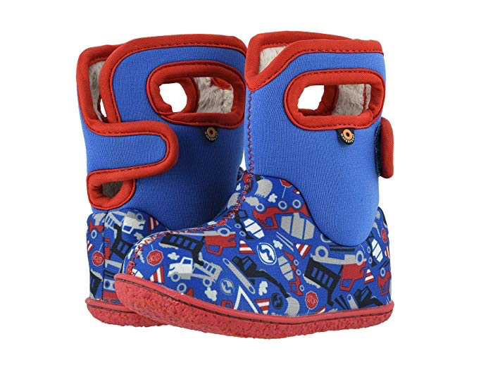 Bogs Boys' Baby Bogs Construction Waterproof Boots w/ Handles (Toddler)