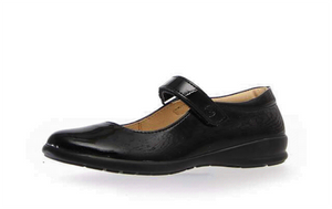 Naturino Catania black patent side view