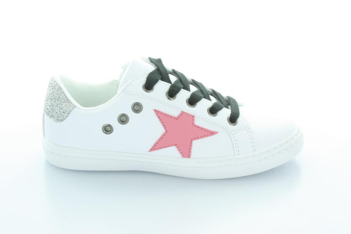 Hoo Shoes Mia Star Lace Sneaker (Toddler/Little Kid)