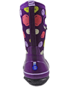 Bogs Classic Sketched Dots Kids' Insulated Boots Purple Multi Back View