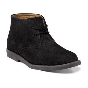Florsheim Quinlan JR Suede Black in Side Angle View