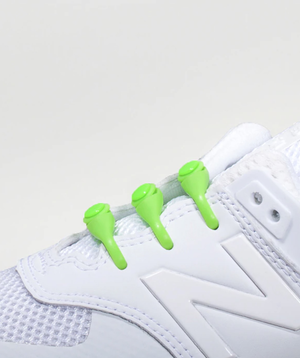 Hickies Kids Lacing System - Lime Green