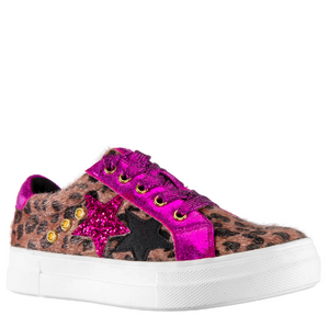 Nina Lizzet Leopard Faux Sneaker (Toddler/Little Kid/Big Kid)