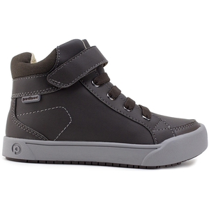 Boys' Pediped Flex High Top Logan Sneaker brown side view