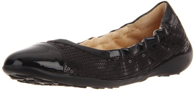 Naturino 3336 Ballet Flat Black Front Side View