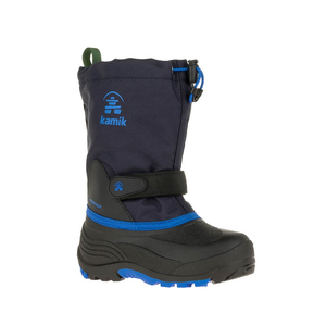 Kamik Boys' Waterbug5 Cold Weather Boot navy/blue side view