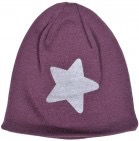 Melton Wool Hat - Reflex Star Print Fig Front View