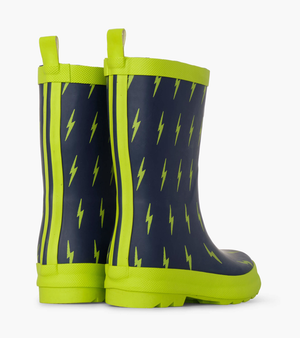 Hatley Lightning Bolts Matte Rain Boots (Toddler/Little Kid)