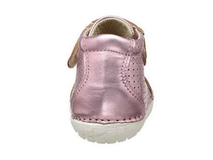 Old Soles Pave Cheer Leather Bootie (Toddler) Pink back view