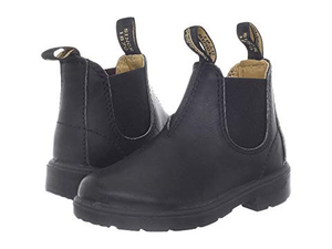 BLUNDSTONE BLUNNIES LEATHER PULL-ON BOOT black front/back view