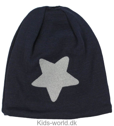 Melton Wool Hat - Reflex Print Blue Front View